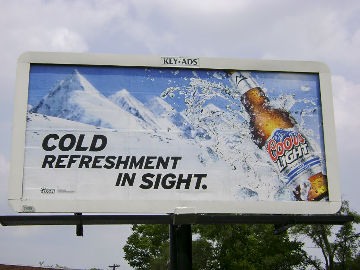 30-Sheet Poster displaying Coors Light ad.