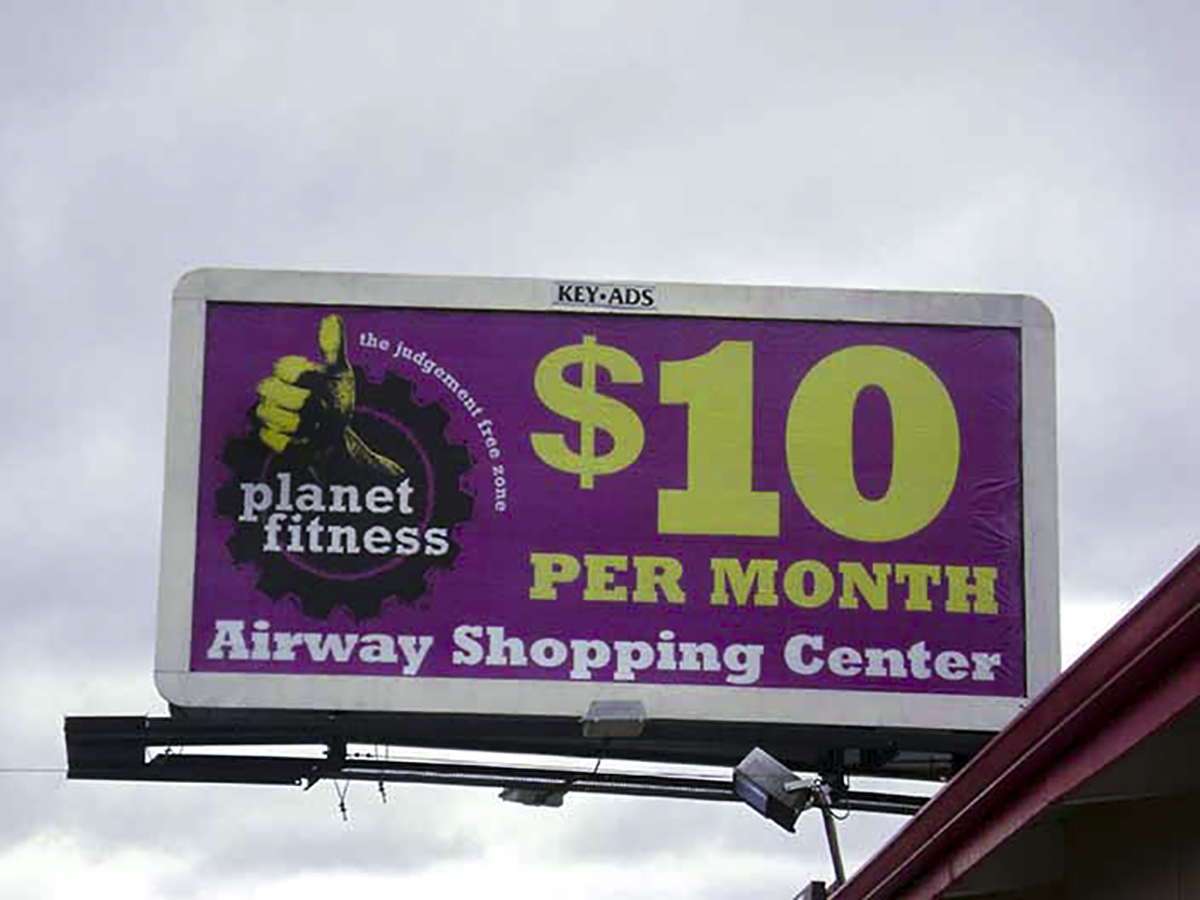 30-Sheet Poster displaying Planet Fitness ad.